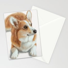 Welsh Corgi Dog Painting Stationery Cards