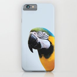 Parrot Photography | Blue and Yellow Macaw | Tropical Birds | Nature | Beauty Wildlife iPhone Case