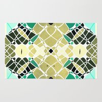 snake Area & Throw Rugs featuring Snake by SensualPatterns