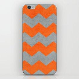 chevron- gray and orange iPhone Skin