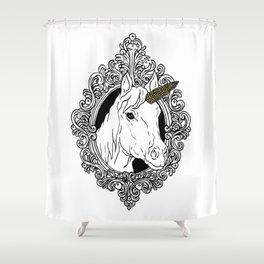 Unicorn Illustration Shower Curtain