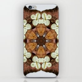 Moth and Flower Mandala iPhone Skin