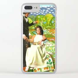 Utopia handcut collage Clear iPhone Case