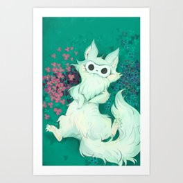 Lio The Fluffy Thing Art Print