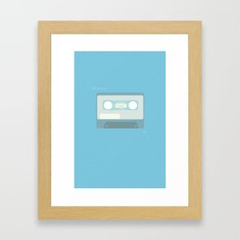 The Perks of Being a Wallflower Minimalist Poster (Blue)  Framed Art Print