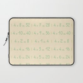 Four Times Table Pattern Laptop Sleeve
