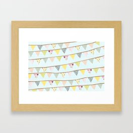 bunting fun Framed Art Print