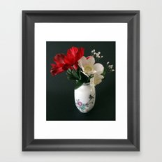 Chinese Vase with Flowers Framed Art Print