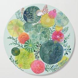 Succulent Circles Cutting Board