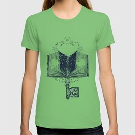Open book and key T-shirt