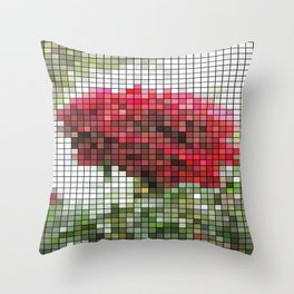 Red Rose with Light 1 Mosaic Throw Pillow