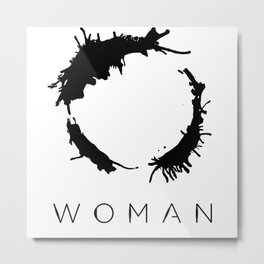Arrival - Woman Black Metal Print