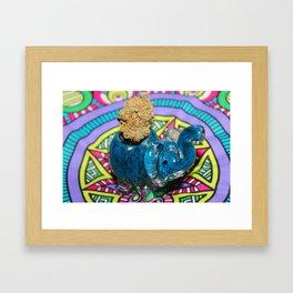 Orange Kush Elephant Framed Art Print