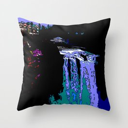 Jazzy Falls Throw Pillow