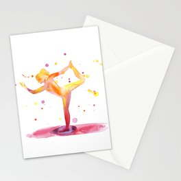 Yoga Chakra Watercolor Painting Stationery Cards