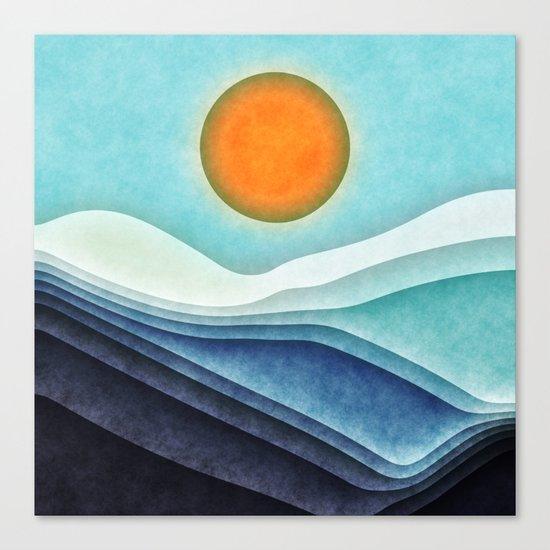 Sunshine Over Blue Mountains Canvas Print