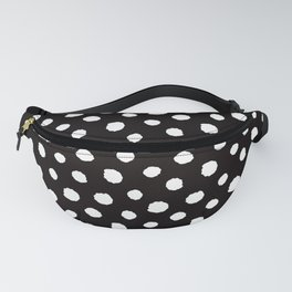 white polka dots on black - Mix & Match with Simplicty of life Fanny Pack