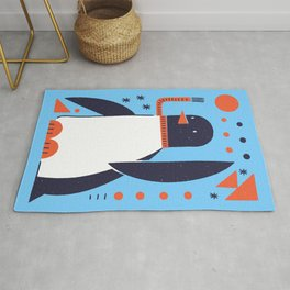 Winter World - Light Blue Mid-Century Modern Rug
