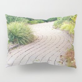 Winding Path of Swaying Trees Pillow Sham