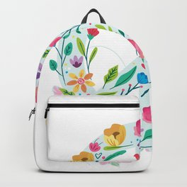 Freedom Calmness Goodwill Friendship Unity Love Peace Symbol Disarmament Gift Funny Floral Peace Backpack