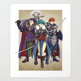 Blazing Sword Awakening Art Print