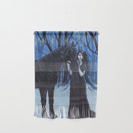 Midnight Travelers Gothic Fairy and Unicorn Wall Hanging