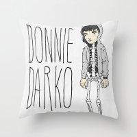 donnie darko Throw Pillows featuring Donnie by Derek Eads