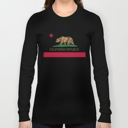 California Republic Flag - Bear Flag Long Sleeve T-shirt