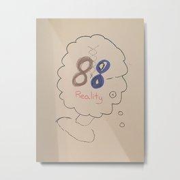 88 Realities - draft cover Metal Print