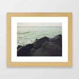 lost in the open Framed Art Print