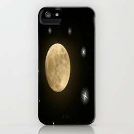 Moon is on iPhone Case