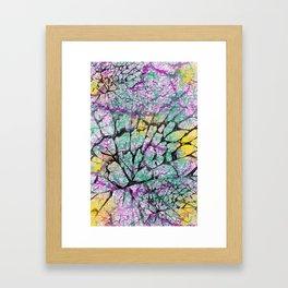 Colourfully Cracked Framed Art Print