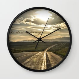 It's About The Journey Wall Clock