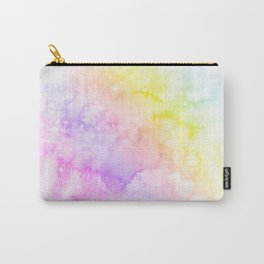 abstract pastel rainbow watercolor painting Carry-All Pouch