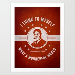 Louis Armstrong - Red Art Print