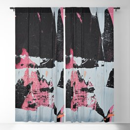 Profoundly [1]: a vibrant abstract piece in blues magenta and orange by Alyssa Hamilton Art Blackout Curtain