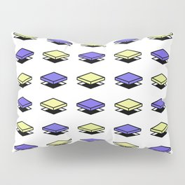 Float Pieces Blue and Yellow Pillow Sham