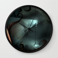 nemo Wall Clocks featuring Captain Nemo by IOSQ