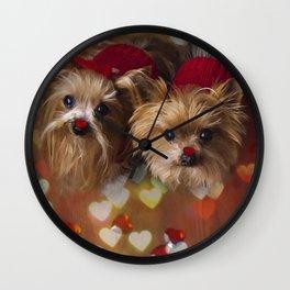 Dog love - Pet photography Wall Clock