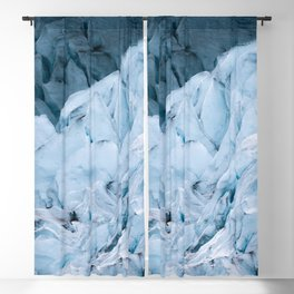 Blue Glacier in Norway - Landscape Photography Blackout Curtain
