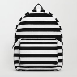 Black White Stripe Minimalist Backpack