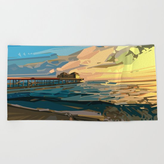 summer beach 1 Beach Towel