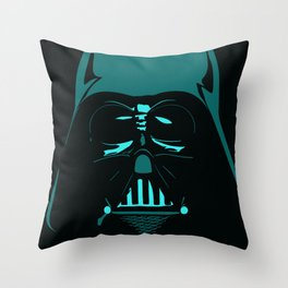 Tron Darth Vader Outline Throw Pillow