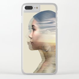 Weightlessness Clear iPhone Case