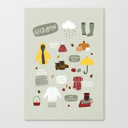 Autumn Essentials Canvas Print