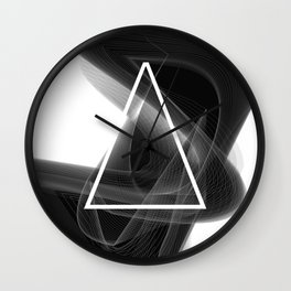 Dark Math. Triangle. Wall Clock