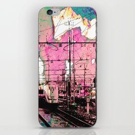 All About the Journey, Abstract Grunge Train iPhone Skin