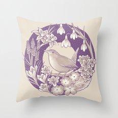 Spring Wren // Light Throw Pillow