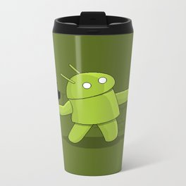 Bugdroid launcher Metal Travel Mug