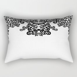 black and white vintage pattern IV Rectangular Pillow